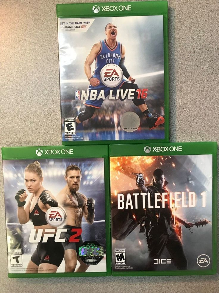 XBox One Games NBA LIVE 16, UFC 2, Battlefield 1 Preowned: $40.00 (0 Bids) End Date: Thursday Mar-15-2018 13:38:05 PDT Buy It Now for only:…