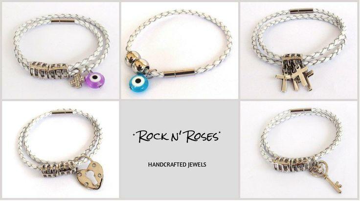 ★__Rock n' Roses handcrafted jewels--leather bracelets__★  http://rocknroses-gr.blogspot.gr/