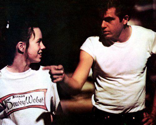 "Mackenzie Phillips and Paul LaMat in Lucas'  ""American Graffiti""."