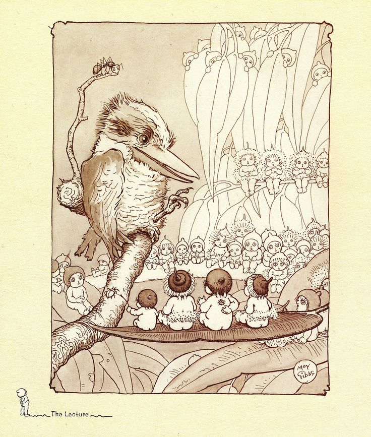 The Lecture - Gumnut Babies by May Gibbs.