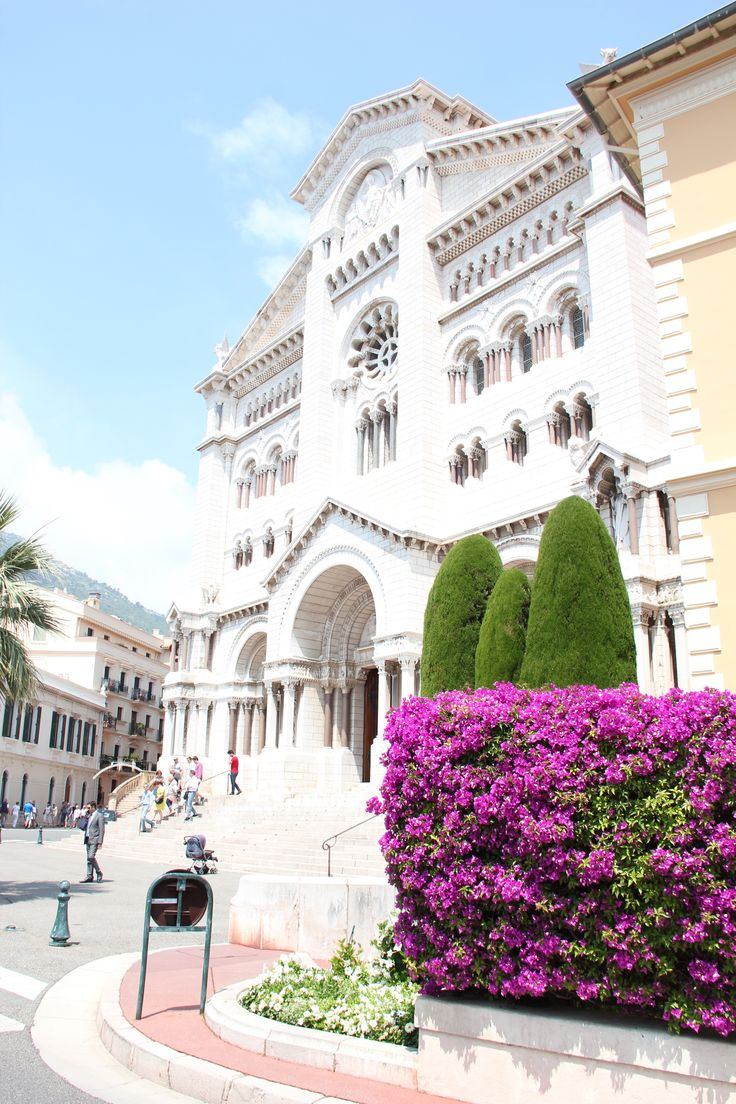 The beautiful white stone of Saint Nicholas Cathedral Monaco. Final resting place of Grace Kelly. By Wanderers Travel Co. #wandererstravelco