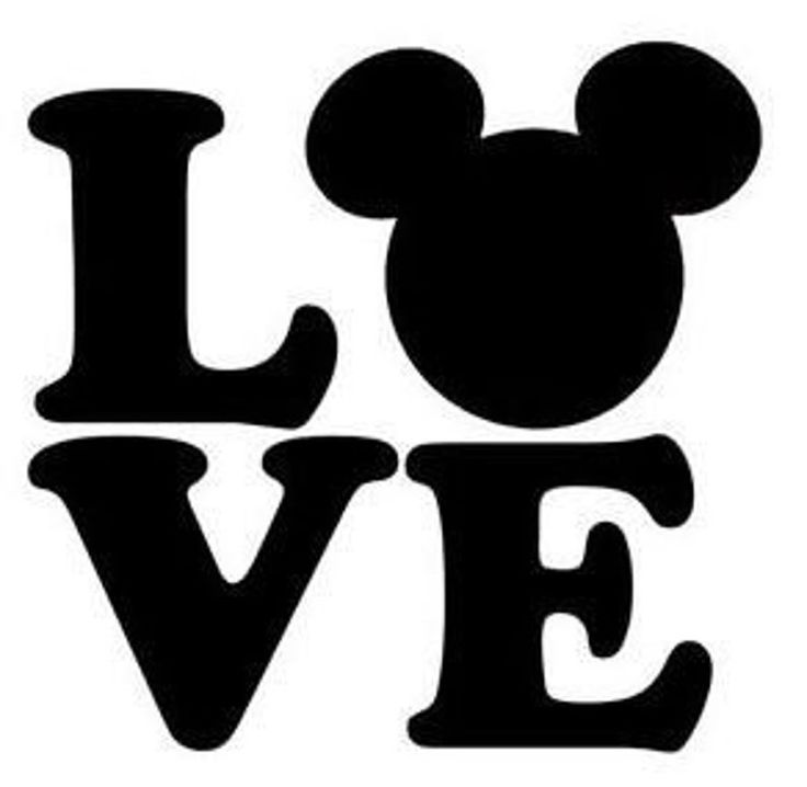Download Love Mickey Mouse Ears SVG file for Cricut in 2020 ...