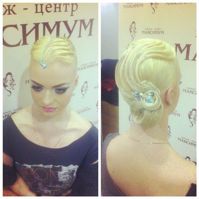 Ксения Клещ. Hair & make up by Natali Ermakova. #hair #hairs #hairstyle #makeup #comp #crocus #competition #nice #like #latin #style #stylist #standart #ballroom #moscow #win #wimner