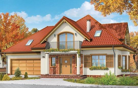 Projekt Julka to dom jednorodzinny parterowy z poddaszem użytkowym dla rodziny 4-5cio osobowej. Projekt domu architektonicznie wzorowany jest na serii popularnych projektów Benedykt. Jest to jednak projekt o mniejszej powierzchni. Wymiary zewnętrzne budynku pozwolą posadowić go na niedużej działce. Mimo niewielkiej powierzchni użytkowej dom jest bardzo funkcjonalny wewnątrz, oraz prezentuje się bardzo dostojnie na zewnątrz.