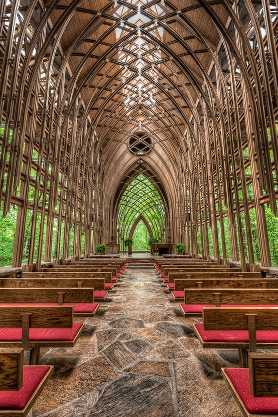 Chapel in the Woods, Arkansas. Looks kinda cool.... Twilight wedding it up a little with more greenery and it would be perfect!