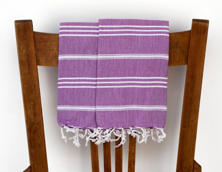 Cotton Kitchen Hand Towels Set Plum Pudding Peshkir 2 Woven Turkish