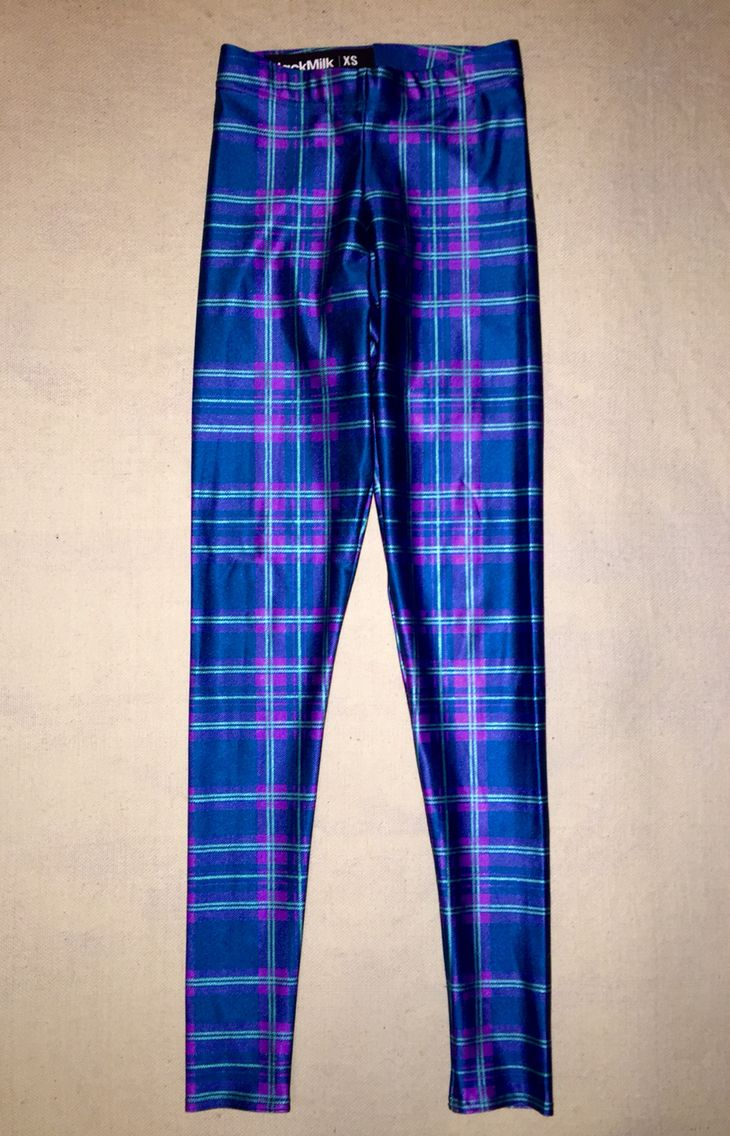 Blue/Purple Tartan Leggings