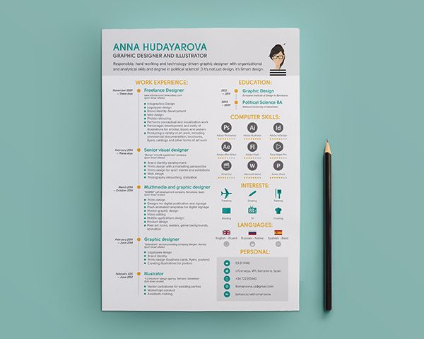 Love The Simple Little Touches Of This Resume Design Style, With Great Info  Graphics And Simple Bold Pops Of Color. For More Resume Inspirations Clu2026