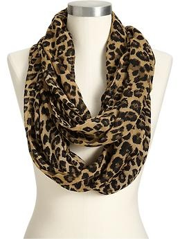 Women's Leopard Print Infinity Scarves, Old Navy - $10