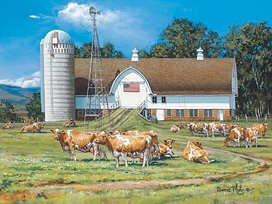 Summer Glory Farm Bonnie Mohr 12x16 Inch Framed Or Unframed Picture Print  Art