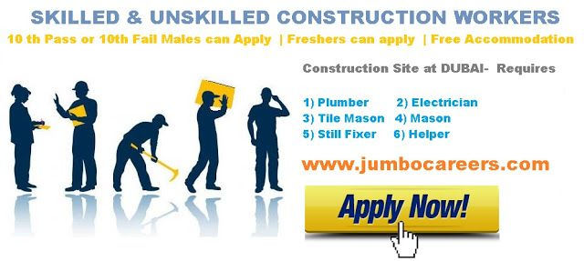 Construction Worker Jobs In Dubai  Constrcution Site Jobs For