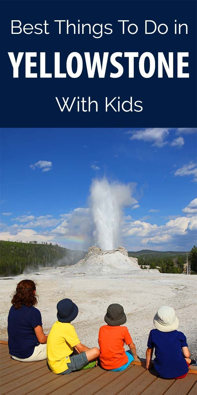 Best things to do in Yellowstone National Park with kids. Main landmarks, short family-friendly hikes, hidden rainbows, and best swimming locations. I wish I knew this before our trip to Yellowstone!