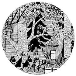 """Petit Jour Paris """"Moomin White and Black"""" Dessert plate - Dezertní talíř"""