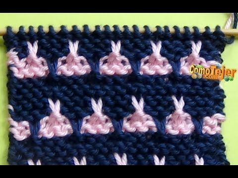 Punto Ropa Bebé #8 - How to Knit a Baby Stitch - 2 Agujas (337) - YouTube