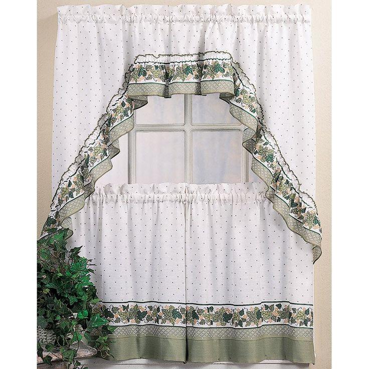 CHF Industries Cottage Ivy Kitchen Curtain Set   1Z45640