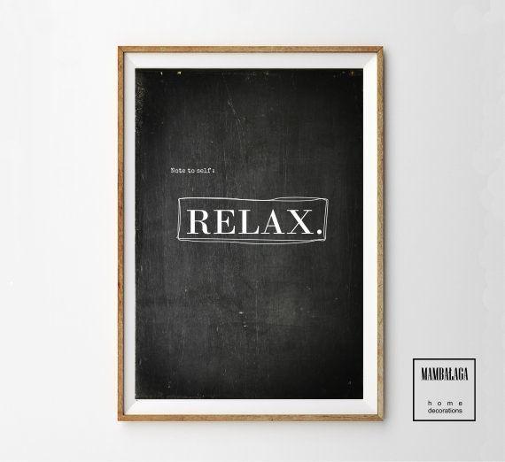 RELAX_A3 plakat - MAMBALAGA - Dekoracje ścienne