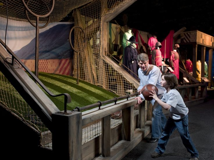 Play quidditch like a wizard at the upcoming Harry Potter Exhibition in the Telus World of Science in Edmonton (November 23rd - March 9th) (Photo Courtesy Warner Bros. Entertainment Inc.) #HarryPotter #Exhibition #Quidditch #TravelCanada #Edmonton #Alberta #Canada #Hogwarts #fun #ThingsToDoInCanada