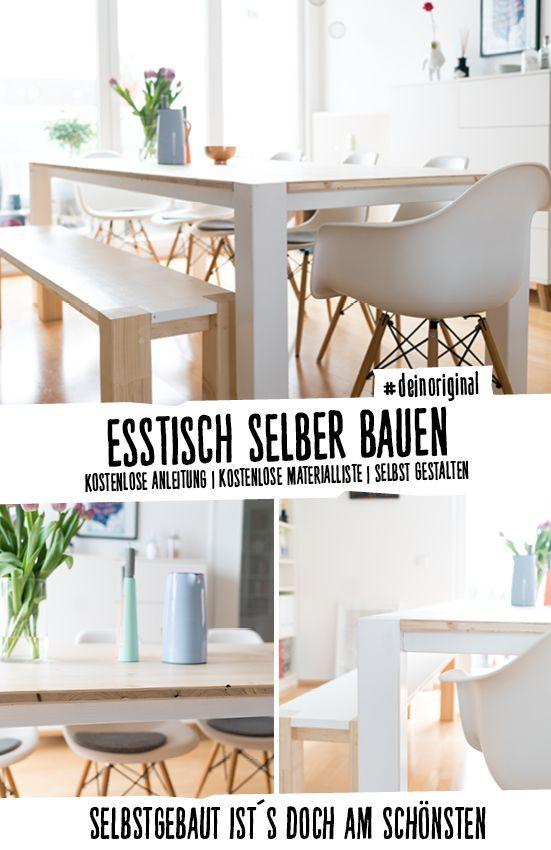 Tisch Maren selber bauen - Tische WG-Ideen Pinterest - esstische aus massivholz ideen