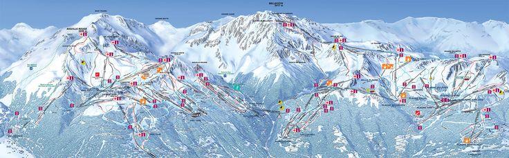 Plan des Pistes Les Arcs. http://www.lesarcs.com