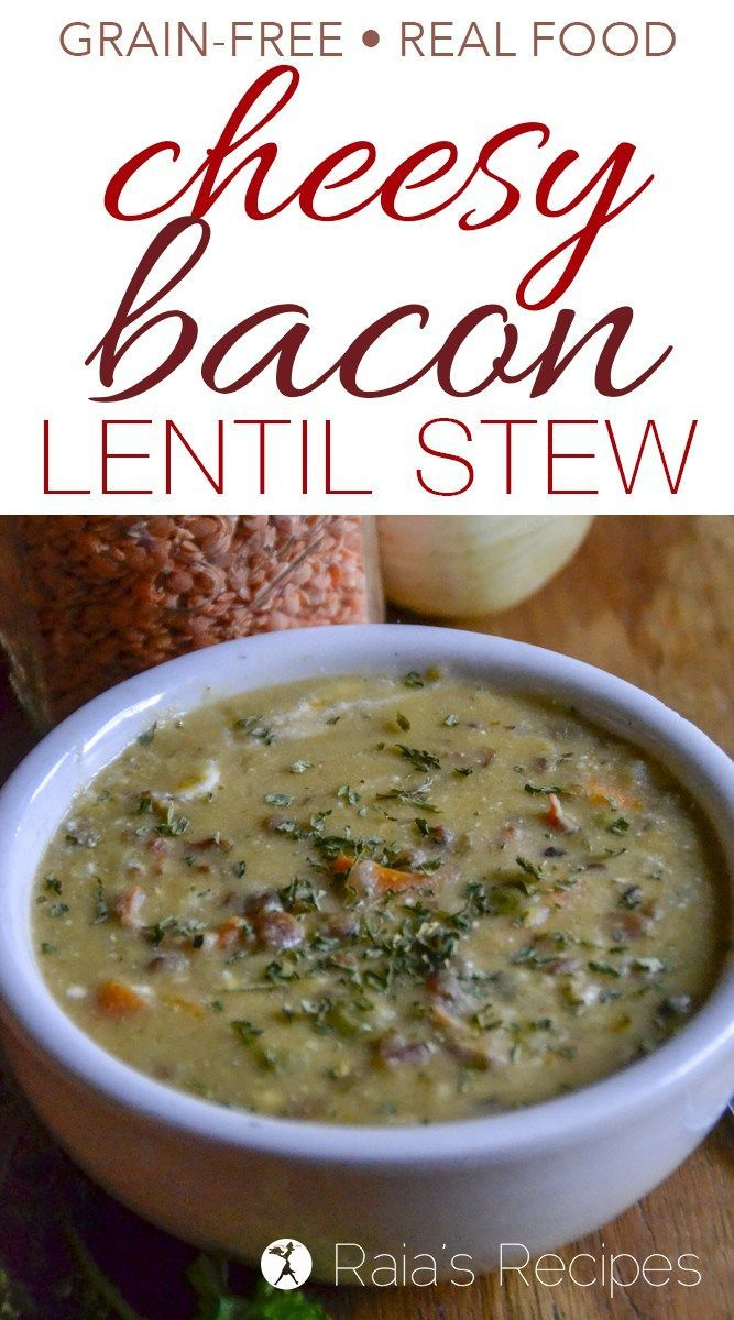 Full of comforting flavors, warmth, and packed with nutrition, thisCheesy Bacon Lentil Stew is a delicious meal the whole family will enjoy.