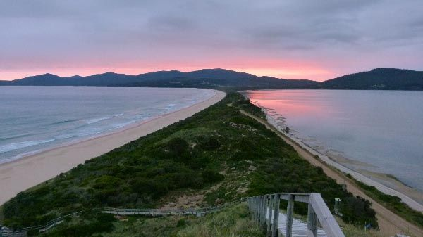 Sunset: The Neck, Bruny Island. Article and photo (by Tezel Tanis) for Think Tasmania.
