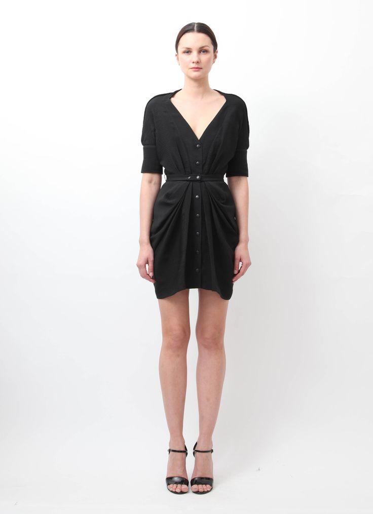 Balenciaga Belted Textured Dress