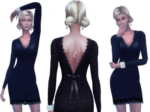 The Sims Resource: Romantic dress by Simalicious • Sims 4