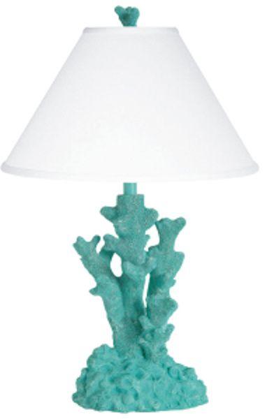 Mermaid Nursery Decor: Turquoise Coral Table Lamp