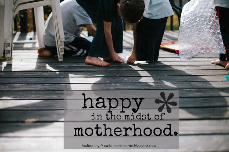 Happy in the Midst of Motherhood -- little words about how to find and keep joy. Motherhood matters. {finding joy}