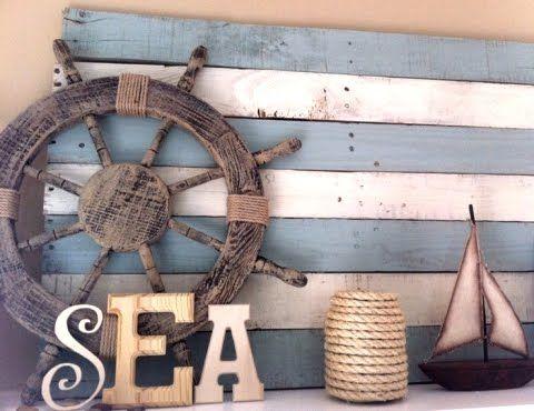 Coastal Decor, Beach, Nautical Decor, DIY Decorating, Crafts, Shopping   Completely Coastal Blog: DIY Wood Pallet Decor Ideas