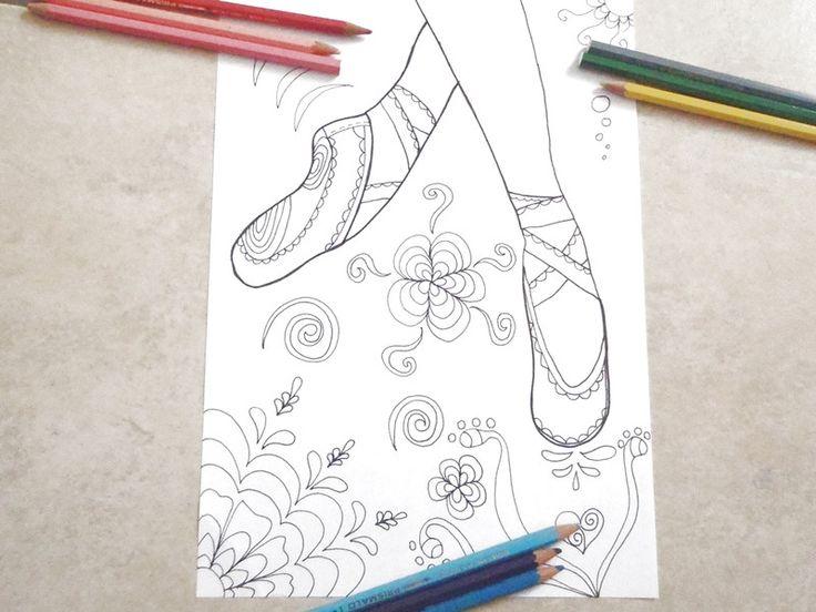 Pennarello - scarpe da ballerina ballo danza classica colorare - un prodotto unico di LaSoffittaDiSte su DaWanda
