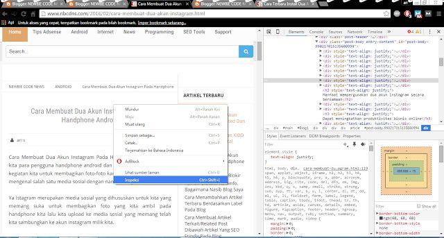 Cara Mengcopy Artikel Blog Yang Tidak Bisa Di Copy Atau Di Proteksicara ngeblog di http://www.nbcdns.com