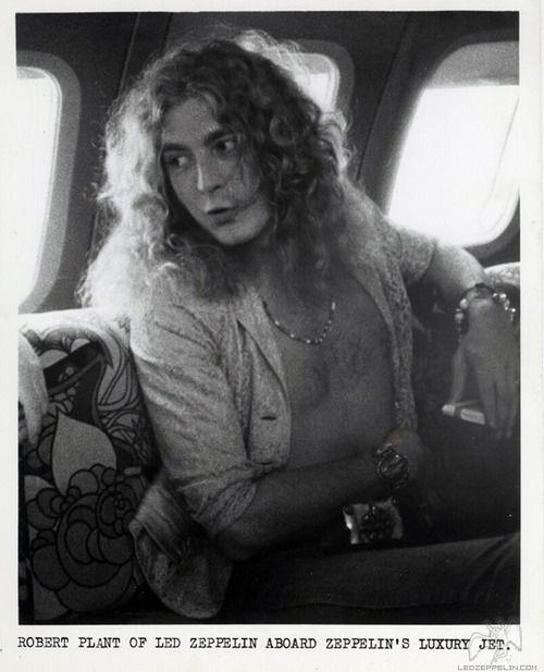 Robert Plant of Led Zeppelin aboard Led Zeppelin's private jet, The Starship #RobertPlant #LedZeppelin #LedZep #Zep #TheStarship