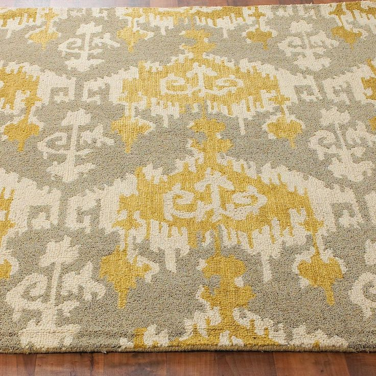 hand hooked gray and gold ikat rug michelle story i found this site with