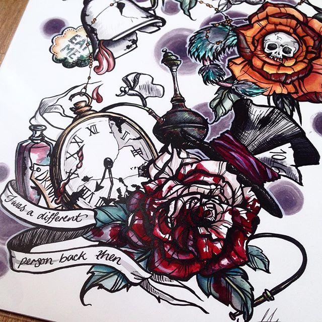 Best 25 Tattoo alice in wonderland ideas on Pinterest
