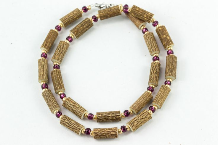 Women Hazel Necklace - plum/gold - Healing Hazel