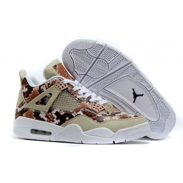 air jordan 4 snakeskin white grey brown retro basketball shoes mens save 55% off