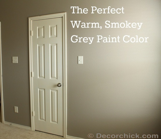 Mushroom sherwin williams warm grey paint color think for Perfect blue grey paint color