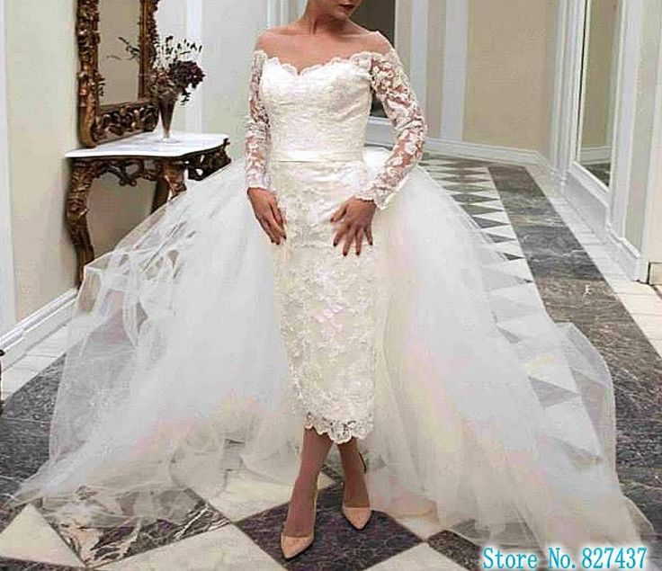 Wedding Dress With Long Sleeves Quality Wanted Directly From China Muslim Suppliers Elegant Weddingdress Detachable