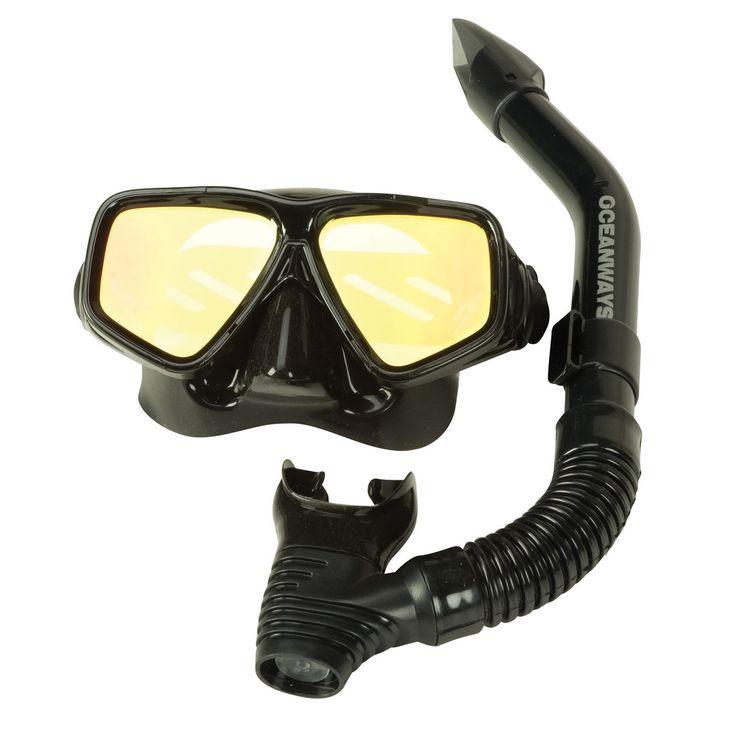 Oceanways UV Glare Blocker Mask And Snorkel Set - Overton's