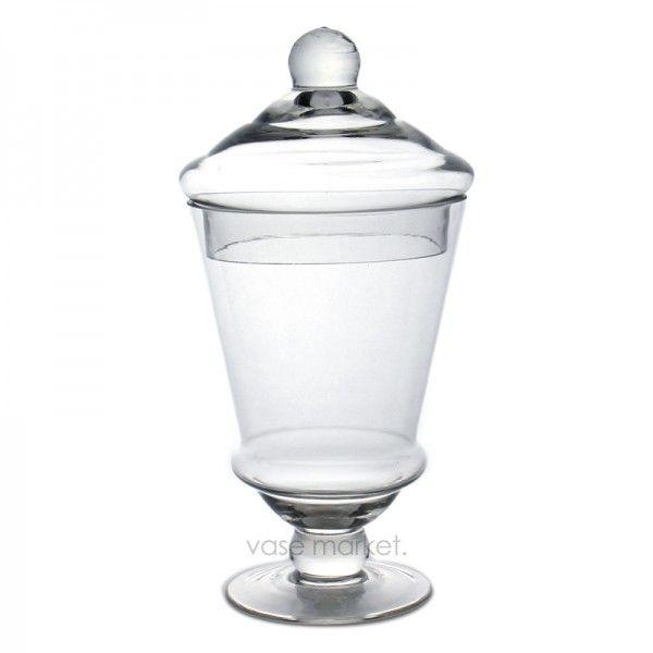 "9.5"" Apothecary Jar Wedding Candy Buffet Decorative Glass Jar"