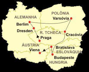 Mapa do Leste Europeu