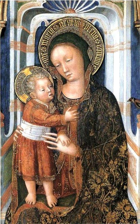 Jacopo Bellini (Italian, ca.1400-ca.1470) ~  Enthroned Madonna with Child ~ Collection Villa Cagnola, Gazzada Schianno (VA). Italy