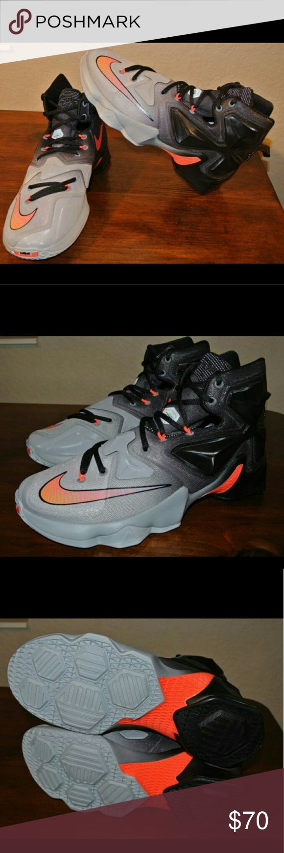 LEBRON 13 'ON COURT' Wolf Grey/Crimson/Black NIKE LEBRON 13 'ON COURT' Wolf Grey/Crimson/Black  In great condition  100% Authentic  WORN 2 TIMES, (10 OUT OF 10) Nike Shoes Sneakers
