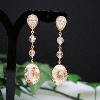 Golden Shadow Swarovski Bridal Earrings from www.earringsnation.com
