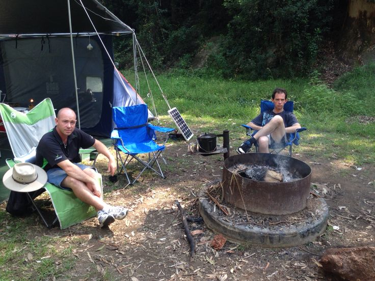 Chilling by the campfire # CampKingsCrew #CampKings Australia