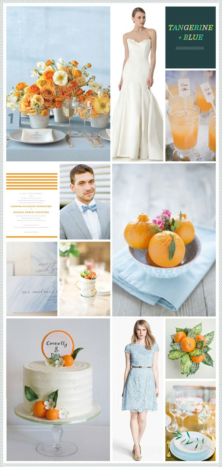 482 best Orange and Blue Wedding images on Pinterest | Color schemes ...