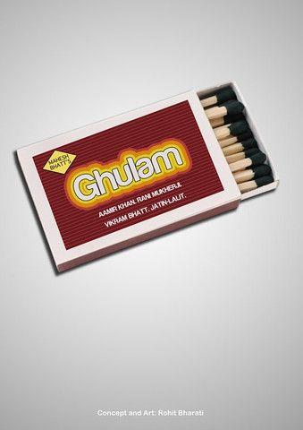 Ghulam   Minimal Bollywood Art