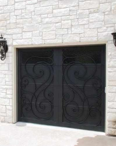 Garage Doors Wind-78 - Wrought Iron Doors, Windows, Gates, & Railings from Cantera Doors