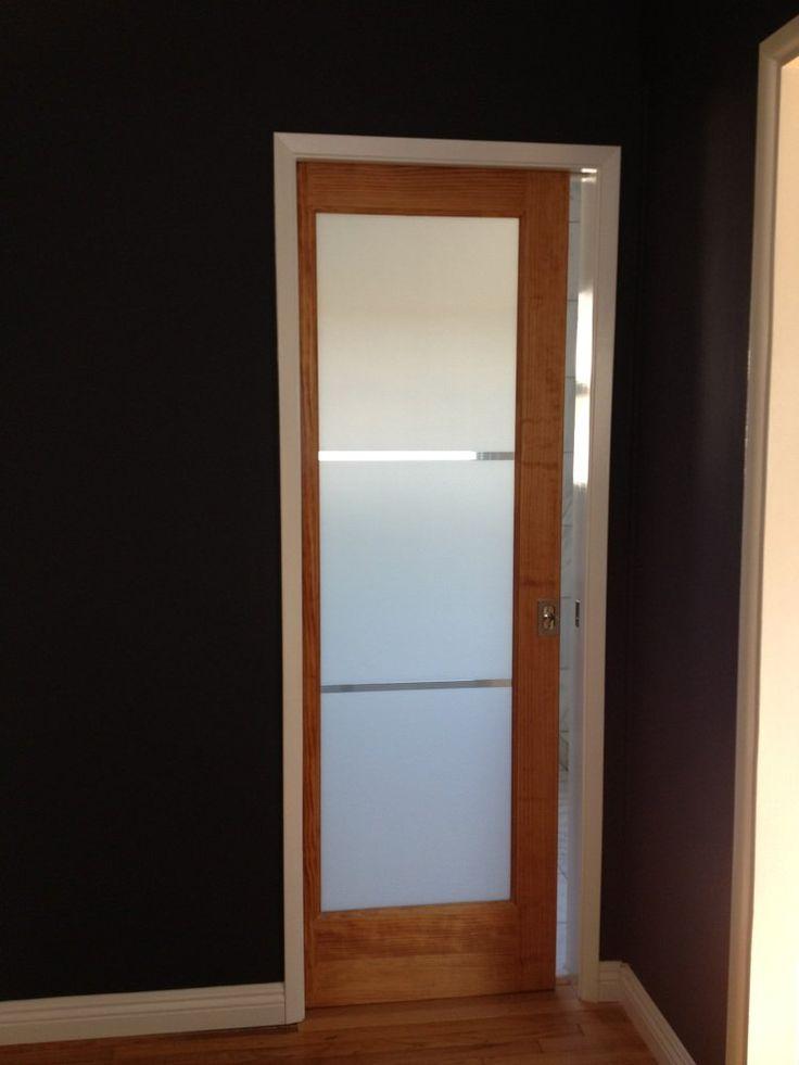 sliding pocket door into the bathroom | Yelp